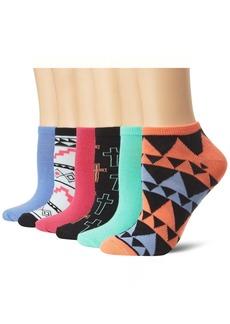 Steve Madden Legwear Women's 6 Pack Low Cut Athletic Sock