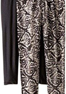 Steve Madden Legwear Women's Aztec and Solid Leggings 2-Pack
