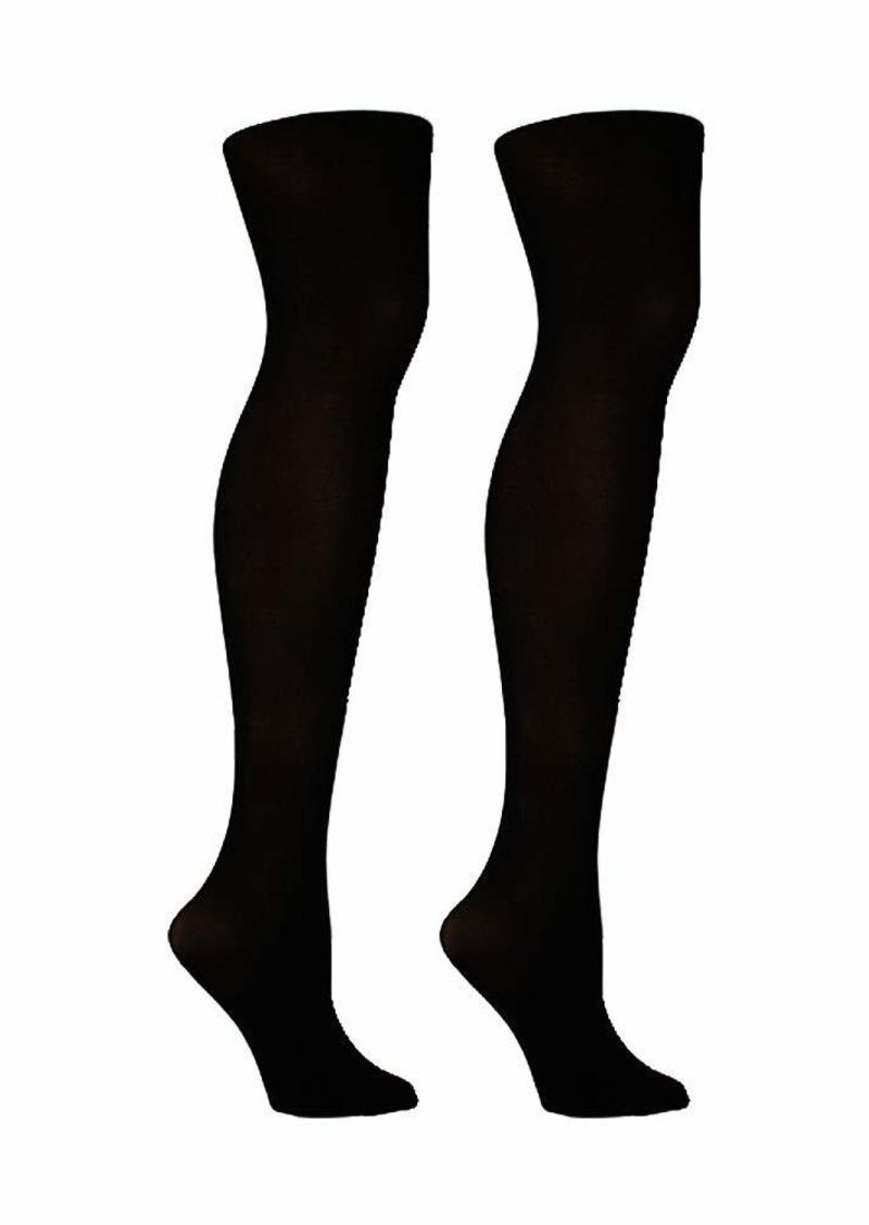 Steve Madden Legwear Women's Fleece Footed Tights SM35083  ML