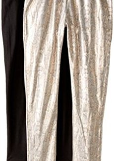 Steve Madden Legwear Women's Snake Pattern and Solid Leggings 2-Pack