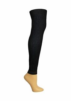 Steve Madden Legwear Women's Super Soft Legging SM12962 black denim