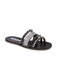 Steve Madden Lindy Spike & Crystal Slide Sandal (Women)