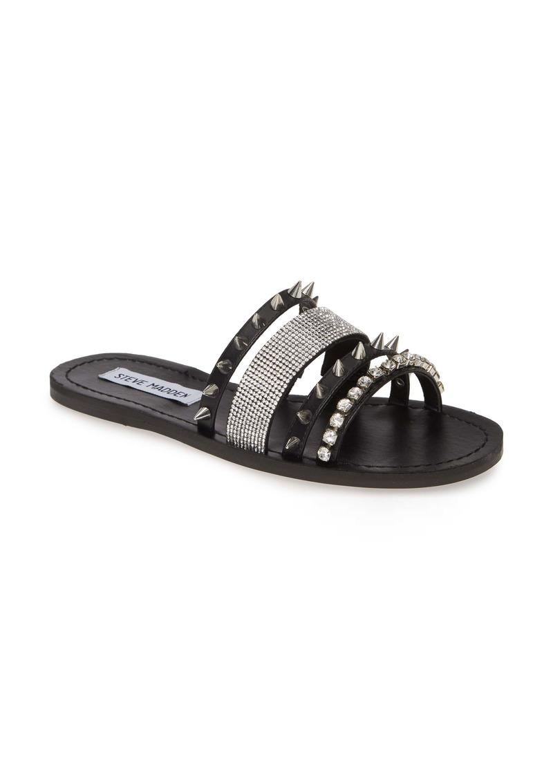 Steve Madden Lindy Spike & Crystal Slide Sandal (Women)