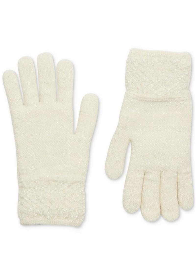 Steve Madden Lurex Sparkle Gloves