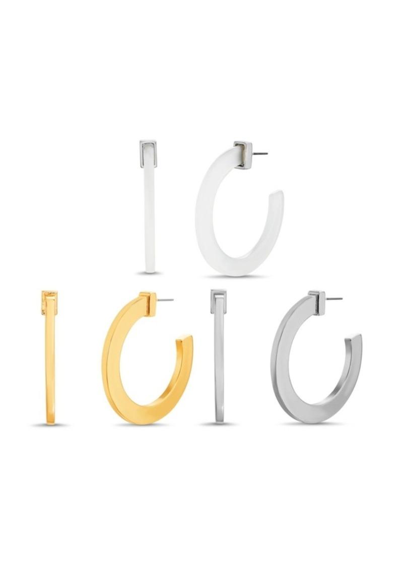 """Steve Madden Medium Lucite Solid Trio Earring Set 1.66"""""""