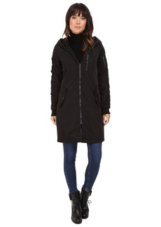 Steve Madden Memory Parka with Ruched Sleeve and Back Detail