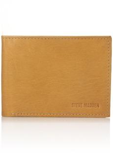 Steve Madden Men's Antique Leather Passcase Wallet