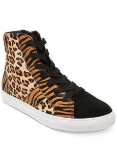 Steve Madden Men's Argos Animal-Print High-Top Sneakers Men's Shoes