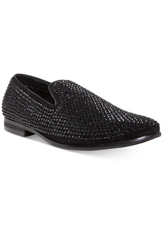 Steve Madden Men's Caviar Rhinestone Smoking Slipper Men's Shoes
