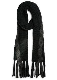 Steve Madden Men's Colorblocked Knit Tassel Scarf