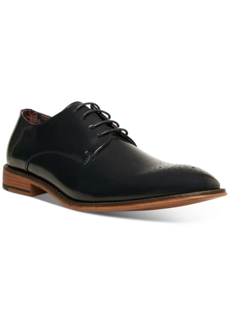 Steve Madden Men's Cratik Box Leather Derby with Medallion Men's Shoes