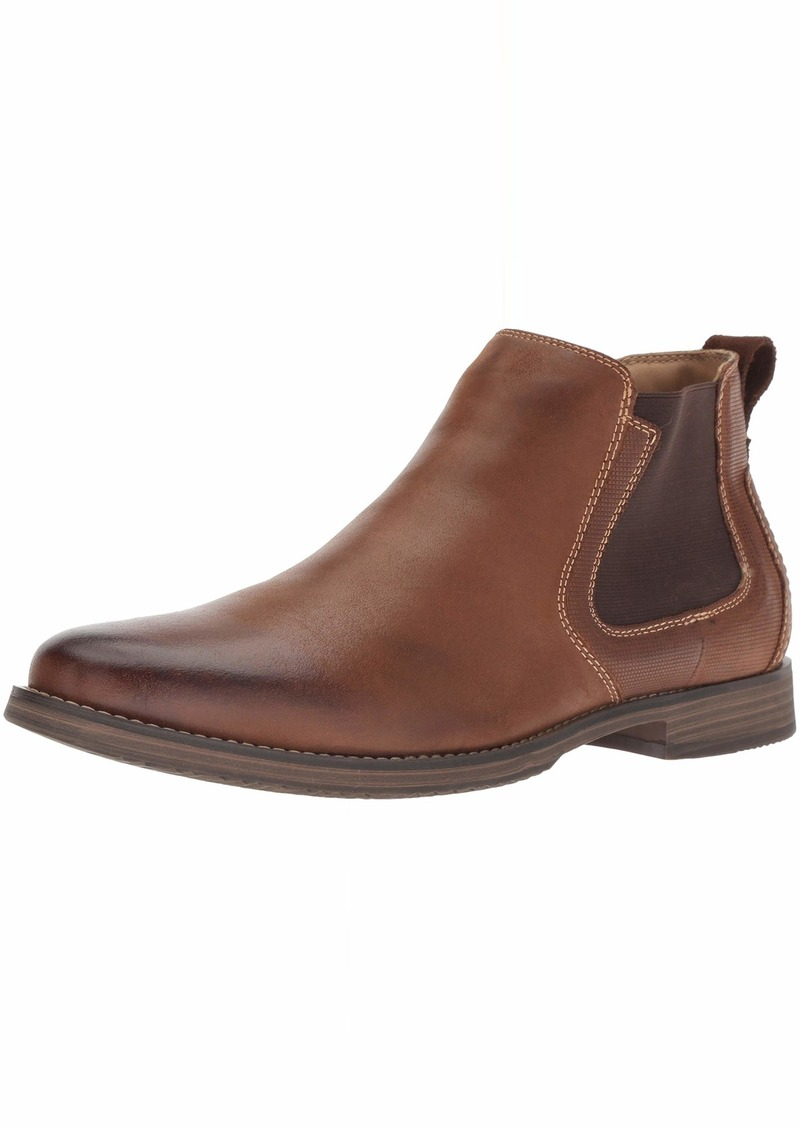 Steve Madden Men's Parris Chelsea Boot Dark tan