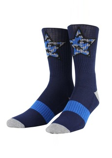 Steve Madden Men's Ribbed Single Pair Street Crew Sock