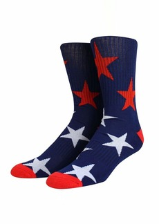 Steve Madden Men's Ribbed Single Pair Street Crew Sock Navy