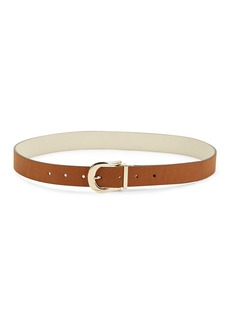 STEVE MADDEN Metallic Faux Leather Belt