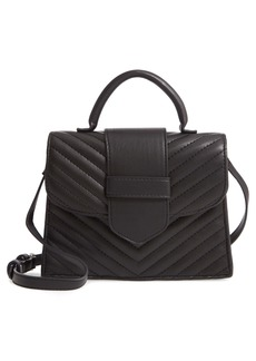 Steve Madden Mini Chevron Quilted Faux Leather Top Handle Satchel