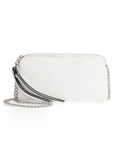 Steve Madden Multi Compartment Faux Leather Crossbody Clutch