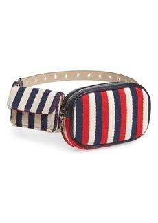 Steve Madden Nautical Stripe Double Belt Bag
