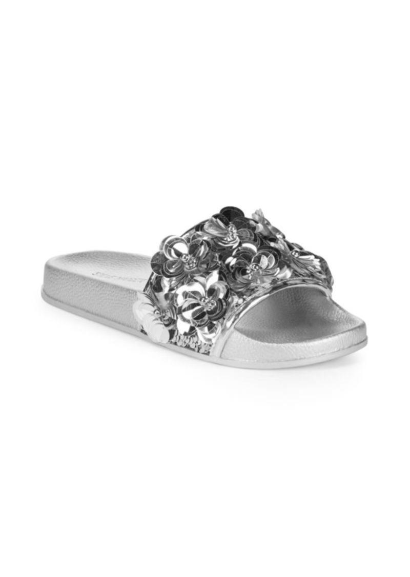 steve madden nellie floral slides shoes