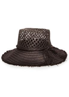 Steve Madden Open Weave Straw Bucket Hat