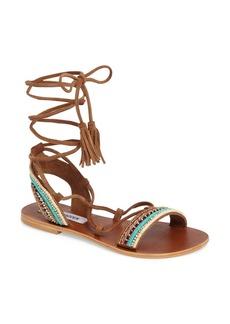 Steve Madden Orva Embellished Ghillie Wrap Sandal (Women)