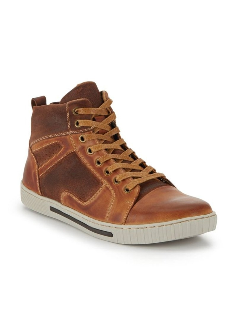 Steve Madden Paneled Leather High-Top Sneakers