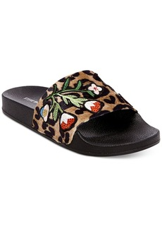 Steve Madden Patches Pool Slides
