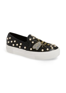 Steve Madden Polly Bee Embellished Slip-On Platform Sneaker (Women)