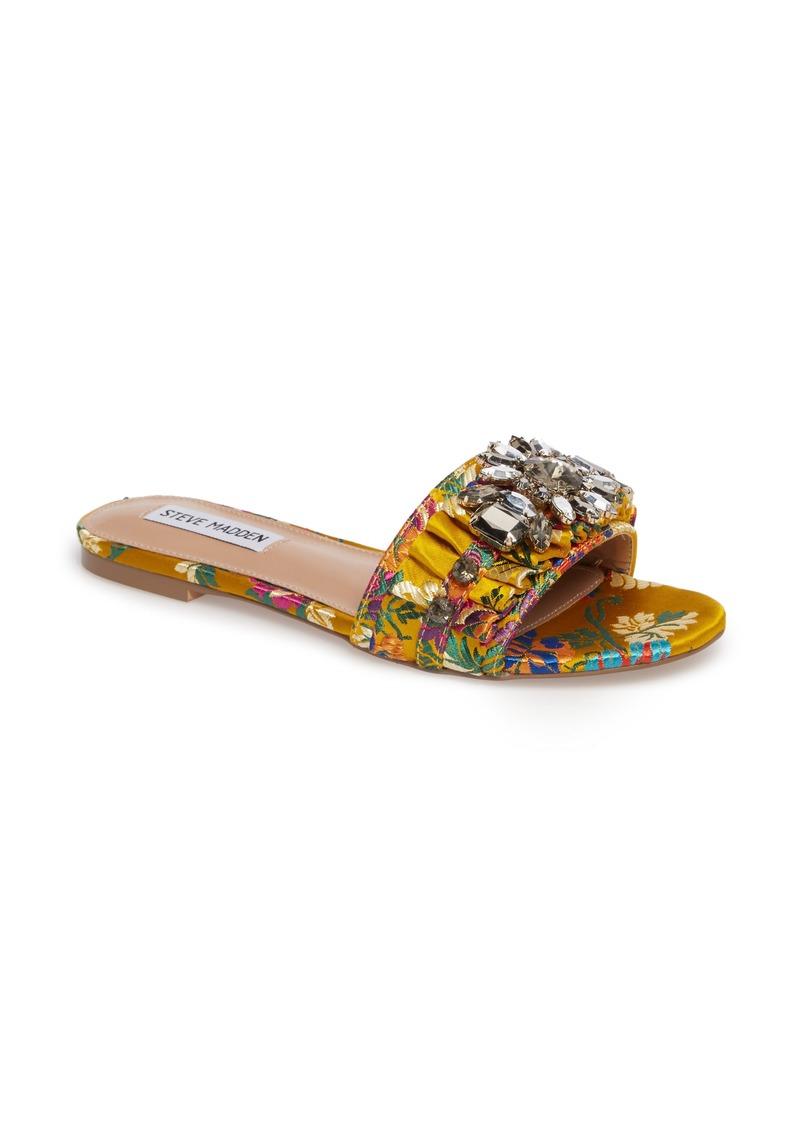 Steve Madden Pomona Crystal Embellished Slide Sandal (Women)
