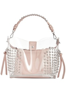 Steve Madden Radarr Clear Studded Bucket Bag