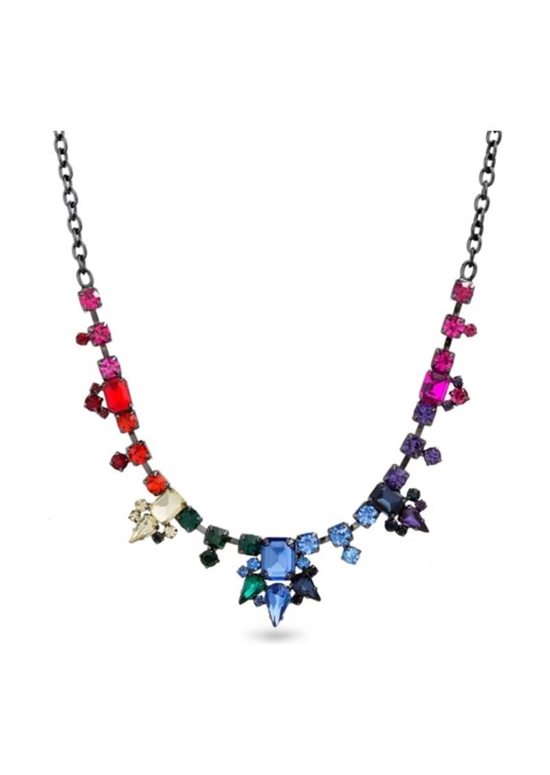 Steve Madden Rainbow Geo Shape Bib Necklace