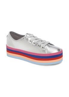 Steve Madden Rainbow Stacked Platform Sneaker (Women)