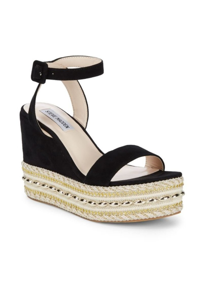 62fcbe9fd50 Reeva Suede Bead Jute Platform Sandals