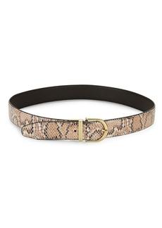 Steve Madden Reversible Snake-Embossed Belt
