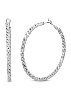Steve Madden Rope Style Hoop Earring