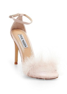 "Steve Madden ""Scarlett"" Feather Trim Sandals"