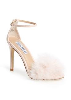 Steve Madden 'Scarlett' Marabou Evening Sandal (Women)