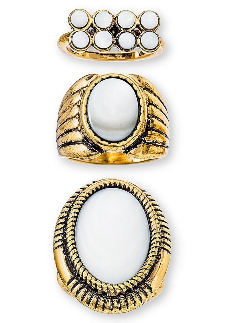 Steve Madden Set of 3 Rings