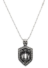 Steve Madden Skull & Shield Pendant Necklace