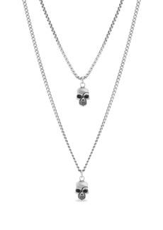 Steve Madden Skull Duo Pendant Necklace