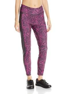 Steve Madden SM by Women's Cropped Static Print Colorblock Run Tight Pant