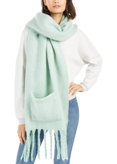 Steve Madden Soft Muffler Scarf With Pockets