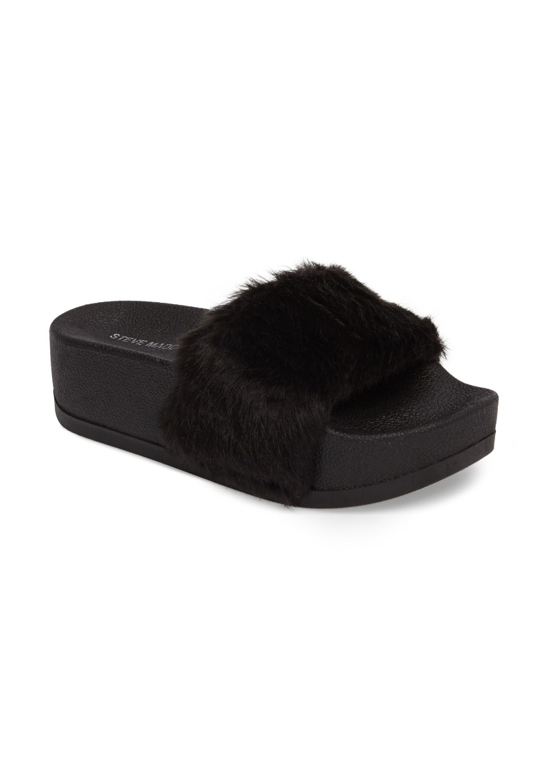 90e2e99c6 Steve Madden Steve Madden Softey Faux Fur Platform Slide (Women) | Shoes