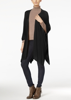 Steve Madden Solid Fine Knit Open Poncho