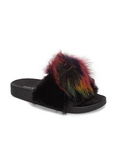 Steve Madden Spiral Faux Fur Slide Sandal (Women)