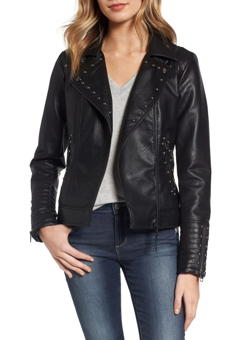 presenting size 7 select for clearance Steve Madden Steve Madden Studded Faux Leather Biker Jacket | Outerwear