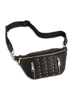 Steve Madden Studded Quilted Faux Leather Belt Bag