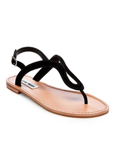 Steve Madden Takeaway Leather Flat Sandals
