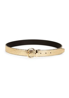 Steve Madden Textured Buckled Belt