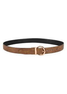 Steve Madden Textured Faux Leather Belt